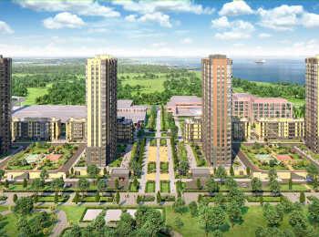 Ландшафтный дизайн территории жилого комплекса Жемчужный каскад